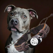 Love Pit Bull Dog Brown Leather Adjustable Pitbull Bracelet Free Shipping