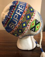 Supreme Nepali Earflap Beanie White FW17 IN HAND* AUTHENTIC FAST SHIPPING NEW