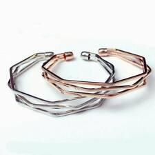 Simple Opening Bangle Women Jewelry Fashion Stainless Steel Bracelet Irregular
