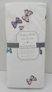 Pottery Barn Monique Lhuillier Organic Perfect Butterfly Fitted Crib Sheet #7516