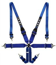 "TRS 2018 Magnum Superlite HANS only FIA Approved 6 Point 3x3"" Harness / Blue"