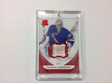 HENRIK LUNDQVIST 2015-16 UPPER DECK THE CUP RED LAUNDRY TAG LOGO PATCH 2/4