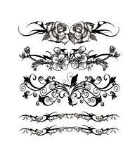 Tatouage éphémère Fleurs 01 Plaque de 5 Love Tattoo