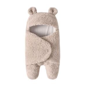 Stylish Baby Sleeping Bag Plush Swaddle Modern Bear Multicolor Wrap Blanket Y3