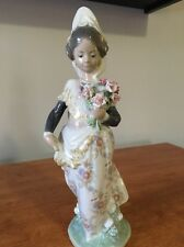 Lladro Valencian Girl With Flowers #1304 Valencianita Ofrenda IOB Original Box