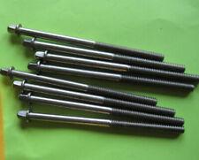 8 Vintage Nickel Plated Drum Tension Rods (NOS)