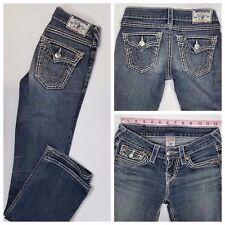 True Religion Hi-Rise Boot Women's Boot Cut Denim Jeans Size 24 x 30
