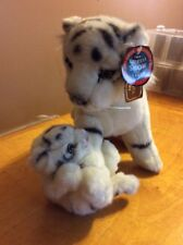 WHITE SIBERIAN TIGER & PLAYFUL BABY  CUB BARNUM & BAILEY RINGLING BROTHERS A23