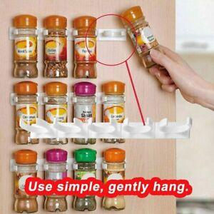 20—Clips Kitchen Spice Gripper Strip Jar Rack Storage Holder Wall Cupboard Door
