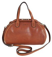 Gianni Conti Italian Small Leather Tan Classic Gladstone Shoulder Bag 913461