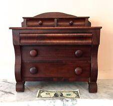 ANTIQUE Empire Dresser Chest SALESMAN SAMPLE Miniature