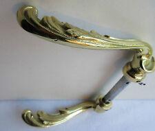 Poignée de porte Art Nouveau, 2 becs de cane en bronze doré, Acanthes Louis XV