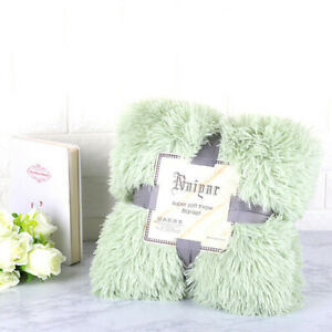 2020 Plush Blanket Soft Artificial Fur and Fluffy Blanket Home