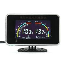 12/24V Car Universal LCD 2 in 1 Gauge Electronic Digital Gauges