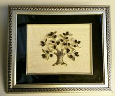 Exquisite Hand Crafted Framed Silver Olive Tree