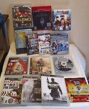 Lot of 14 PS3 Games Playstation Bundle In Box / Manual Free Shipping