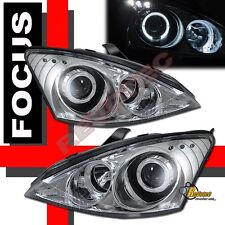 2000-2004 Ford Focus Chrome Halo LED Projector Headlights RH & LH
