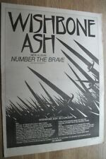 WISHBONE ASH NUMBER THE BRAVE + UK DATES 1981 MUSIC NME ADVERT poster 15 X 11 in