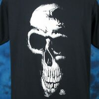 vintage 80s GRIM REAPER SKELETON PAPER THIN T-Shirt M/L skull biker punk rock