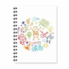 Funny Notebook Wire Bound Spiral Ruled White Notepad A5 Diary Stationary Gift