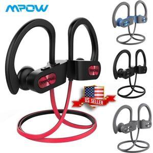 🎵🎧 Mpow Flame Bluetooth Headphones Waterproof IPX7 Wireless Earbuds Sport New