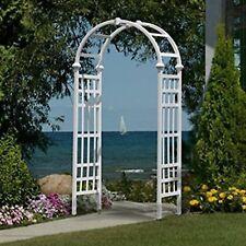 Garden Arches And Arbors Wedding Pergola Entrance Decor Vinyl White Structure