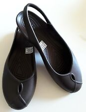 Crocs New with Tags Womens Olivia ll Flat U.S.Size 7 Expresso Color Free Postage