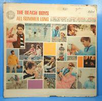 THE BEACH BOYS ALL SUMMER LONG LP 1964 MONO ORIGINAL PRESS PLAYS GREAT! VG/VG!!