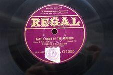 "PRUDHOE GLEEMEN 12"" 78 RPM BATTLE HYMN OF THE REPUBLIC (ELVIS) 1929 REGAL G1005"