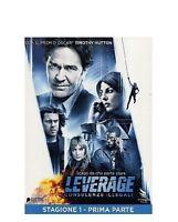 LEVERAGE- STAGIONE 1 PRIMA PARTE- DVD NUOVO SIGILLATO SLIP CASE
