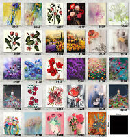 """16X20"""" Bloom Flowers Art Photo Printed Painting on Canvas with frame 40x50cm"""