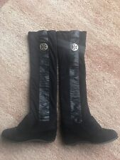 Tory Burch Jack Over The Knee  Black Boots size 5