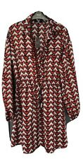 MISSGUIDED Satin Shirt Dress - Size 12