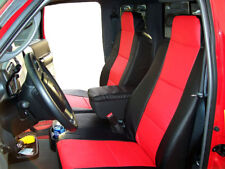 FORD RANGER 2010-2011 BLACK/RED S.LEATHER CUSTOM FRONT SEAT & CONSOLE COVER