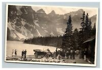 Vintage Early 1900's RPPC Postcard Banff Canada Moraine Lake Camp UNPOSTED