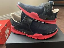 Super Rare Brand New Nike Sock Dart ID Black/Red Size 10
