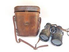 Antique Military Binoculars Deraisme Paris Leather Case