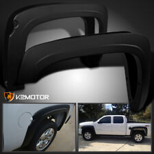 2007-2013 Silverado 1500 Fleetside Short Bed Factory Style Black Fender Flares