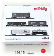 Märklin 45645 US-Güterwagenset 5-teilig jeweils einzeln verpackt #NEU in OVP#
