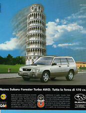 AUTO998-PUBBLICITA'/ADVERTISING-1998- SUBARU FORESTER TURBO AWD 170CV