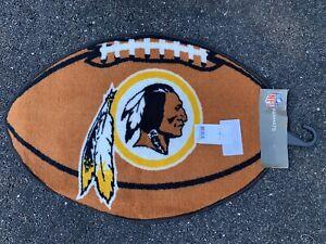 "Washington Redskins NFL Football Shaped Floor Door Mat Area Rug Carpet 22"" x 32"""