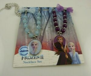 Disney Frozen necklace set  Ana  Anna and Elsa charm beads