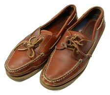 West Marine Nautical Gear Mens Size 11M Brown Leather Boat Shoes