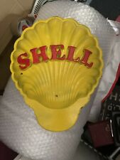More details for shell oil vintage sign made of brass  hand made