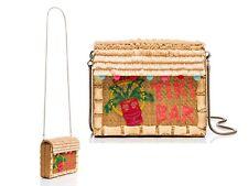NWT Kate Spade Breath of Fresh Air TIKI BAR Wicker Bamboo Crossbody Bag New