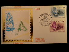 MONACO PREMIER JOUR FDC YVERT  1587/8      PAPILLONS      3,40+2,50F    1987