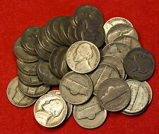 1940-S JEFFERSON NICKEL ROLL (40 COINS) CIRCULATED NICE COINS CHECK OUT STORE