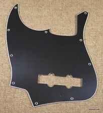 (B44) Left Handed Guitar Pickguard Fits Jazz Bass JB style ,3ply BLACK