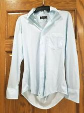 New listing Vintage Bristol Men's Button Down Light Blue Polyester Shirt 15 33