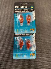 NEW Philips Wedge Lighting 4-Watt T5 12-Volt Wedge Base Light Bulb, 4 Pack Amber